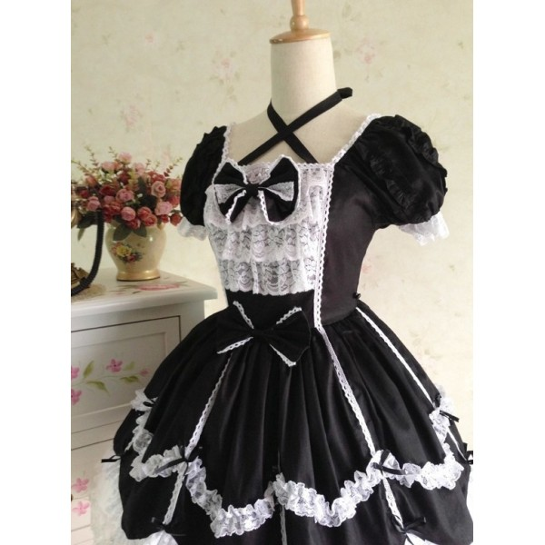 lolita kleid gothic vintage spitze prinzessin kleid. Black Bedroom Furniture Sets. Home Design Ideas