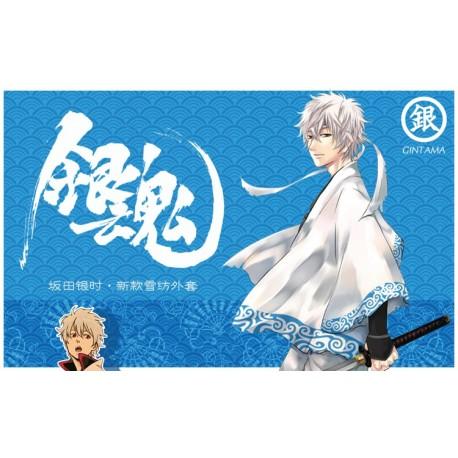 Gintama Sakata Gintoki Kimono Original Chiffon Mantel Cospaly Kostüm Anime Manga