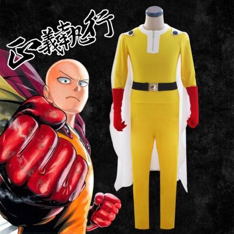 One Punch Man Saitama kämpfen Kleidung Superman Kostüm Cosplay Anime Manga