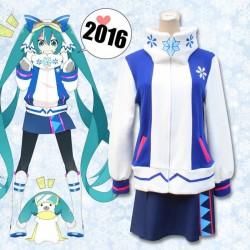 Snow Miku / Winter Miku Hatsune Miku Herbst Winter Mantel Pullover Rock Cosplay Kostüm Anime Manga
