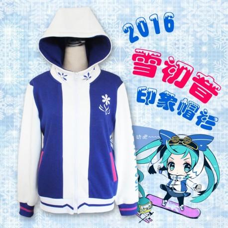 Snow Miku / Winter Miku Hatsune Miku Herbst Winter Hoodie Pullover Cosplay Kostüm Anime Manga