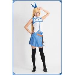 Fairy Tail Lucy Cosplay Kostüme schöne blaue Rock