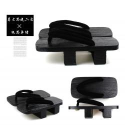 Japanische Holzschuhe zweizähnigen Clogs Kimono schwarz Heels Highheels Herren Cosplay Geta