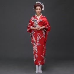 japanische trationelle lange florale kimono Damen Cosplay Kostüm Shop