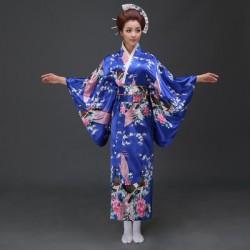 japanische trationelle lange florale kimonos Bühnenoutfit Cosplay Kostüm Shop