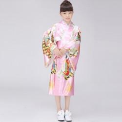 japanische trationelle lange florale kimonos Mädchen Bühnenoutfit Cosplay Kostüm Shop