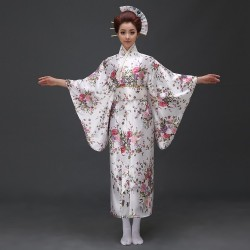 japanische trationelle lange florale vornehme kimonos Bühnenoutfit Cosplay Kostüm Shop