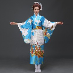 japanische trationelle lange florale kimonos Damen Bühnenoutfit Cosplay Kostüm Shop