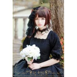 Lolita dress Kleidung elegant schwarz Jacquard Devil rose Op-kleidung
