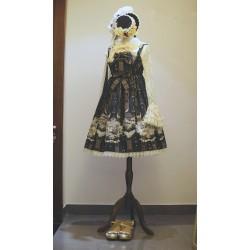 Lolita dress Kleidung Rabe und Jugend Taille Kleid schöne Bogen