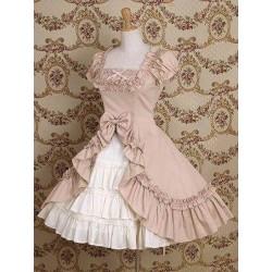 lolita dress Kleidung unregelmäßige Design Palast kurzärmeliges Kleid