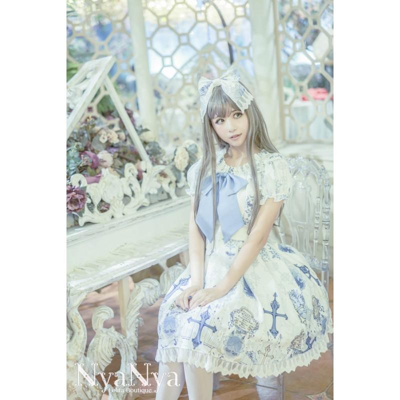 lolita dress Kleidung mit Stern und Kreuz bedrucken trägerlos Blase ...