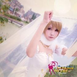LoveLive!Idol school Koizumi Hanayo Hochzeit Prinzessin weiß Süß Kawaii Kostüm riddler Cosplay Anime