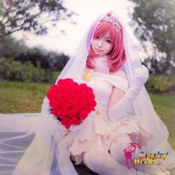 LoveLive!Idol school Maki Nishikino Hochzeit Prinzessin weiß Süß Kawaii Kostüm riddler Cosplay Anime