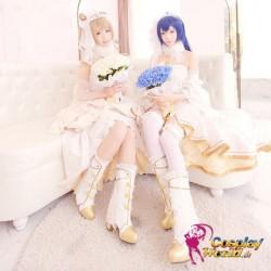 LoveLive!HochzeitSchuhe mit hohen Absätzen Süß Kawaii Prinzessin weiße Schuhe Cosplay Schuhe