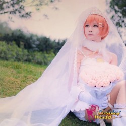 LoveLive!Idol school Rin Hoshizora Hochzeit Prinzessin weiß Süß Kawaii Kostüm riddler Cosplay Anime