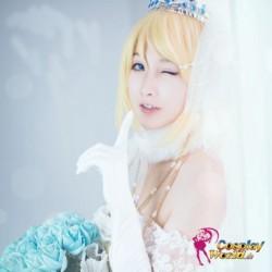 LoveLive!Idol school Eli AyaseEllie Hochzeit Prinzessin weiß Süß Kawaii Kostüm riddler Cosplay Anime