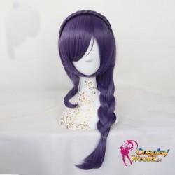 LoveLive!Idol school Nozomi Tojo Süß Kawaii lila Flechte Perücke wig Cosplay Anime