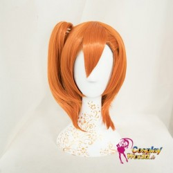 LoveLive!Idol school Honoka Kousaka Süß Kawaii orange Schal Perücke wig Cosplay Anime
