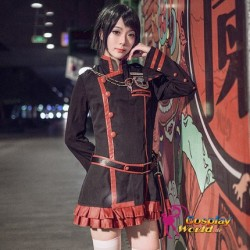 D.Gray man Linali Lee The Black Order Töter Division Exorcist frau Kostüm schwarze Kleidung Cosplay Anime