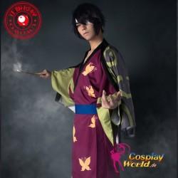 GINTAMA Takasugi Shinsuke Kostüm Kimono Bademantel Herr Kleidung Mantel Cosplay Anime