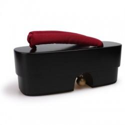 Japanische Holzschuhe maiko Senbonzakura schwarz dunkel rot Heels Highheels Damen Cosplay Geta