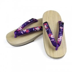 Japanische Geta Schuhe flach Trotteurschuh Clogs Zori Tabi Kimono rosa Blütenkirsche Damen Cosplay Geta