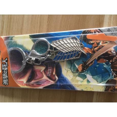 attack on titan shingeki no kyojin cosplay accessories survey corp legion keychain