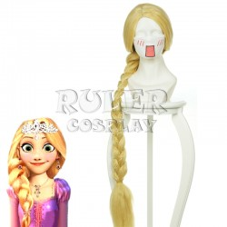 Tangled Rapunzel Disney gold Cosplay Perücke