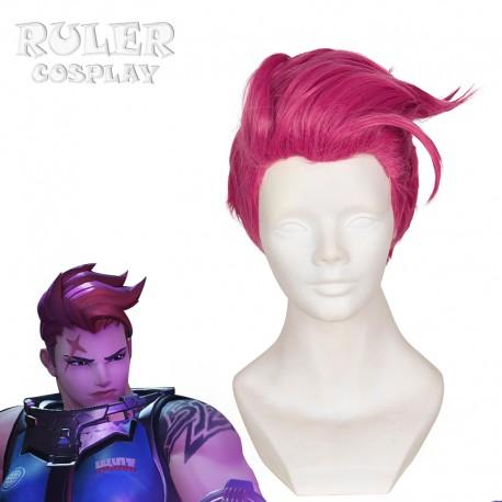 Overwatch Zarya rosa Cosplay Perücke