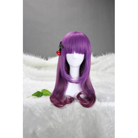 japan harajuku serie lila schattierungen cosplay perucke