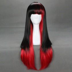 Japan Harajuku Series schwarz & rot Cosplay Perücke