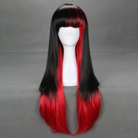 japan harajuku series blackred cosplay wig