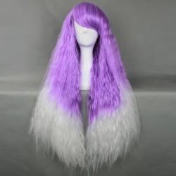 Japan Harajuku Serie lila, weiße lockiges Haar Cosplay Perücke