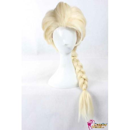 frozen elsa blond perucke zopf mich gold