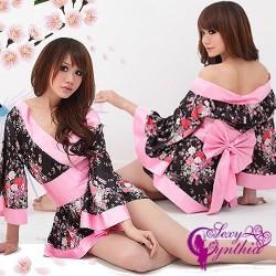 schulterfrei japan Kimono Geisha Yukata Kostüme Kleid Mini Rock Nachtwäsche