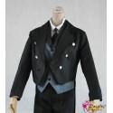 Black Butler KUROSHITSUJI Sebastian Cosplay Kostüm Set 5-tlg Anzug