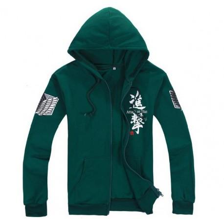 grun hoodie kapuze shingeki no kyojin attack on titan survey corps scouting legion cosplay kostume