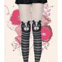 japanisches Mädchen Strumpfhose strümpfe mit Hundkopf Motiven
