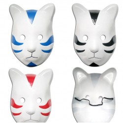 dunkel naruto shippuden konoha cosplay katze maske 3 farben rote schwarze und blaue neu