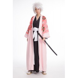bleach 8th division captain kyouraku shunsu cosplay mantel kostum umhang rosa