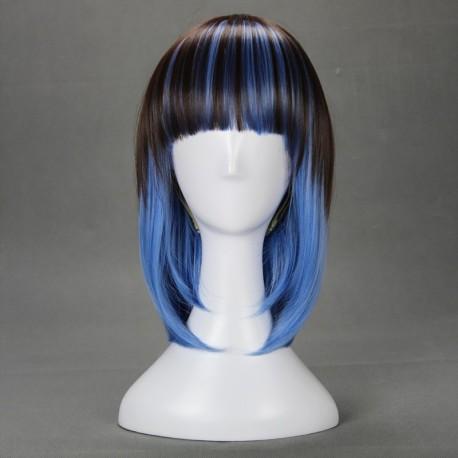 japan harajuku series schwarz blau cosplay perucke