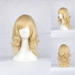 Japan Harajuku-Serie hellgolderne Curly Cosplay Perücke