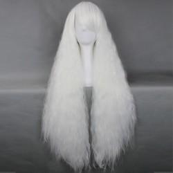 Japan Harajuku-Serie weiße lockige Cosplay Perücke