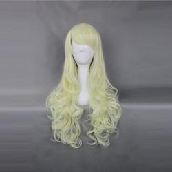 Japan Harajuku Serie 60-65cm hellgelbe Weibliche Cosplay Perücke
