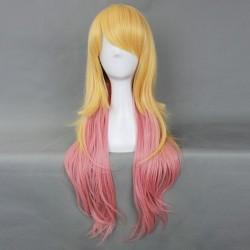 Japan Harajuku Serie gelbe und rosa lockige Perücke