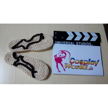 straw sandal shoes one piece monkey d luffy cosplay