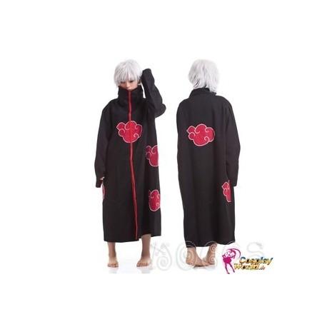 NARUTO Akatsuki Cosplay Kostüm Mantel Umhang mit Kragen