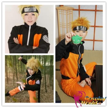 naruto uzumaki cosplay anime manga kostume konoha shippuden orange schwarz
