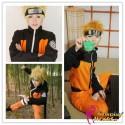 NARUTO Uzumaki Cosplay Anime Manga Kostüme KONOHA SHIPPUDEN Orange Schwarz